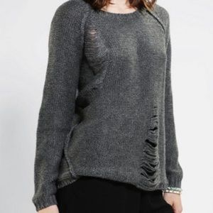 Anthropology Distressed Sweater by Sparkle & Fade